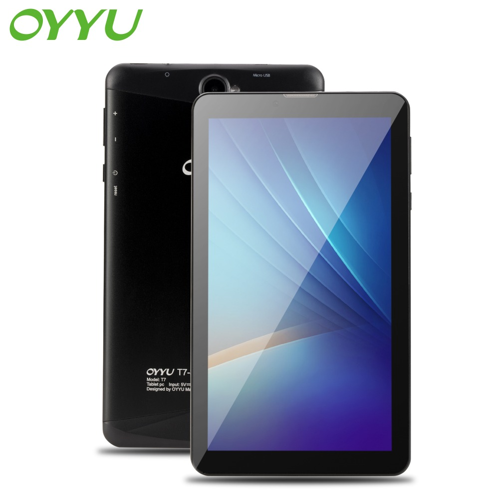 3g Chiamata di Telefono Tablet pc Android 6.0 OYYU T7 MT8321A/B Quad Core 1.3 ghz 1g di RAM + 16 gb di ROM WiFi Bluetooth 7 pollice Dello Schermo tabletBlack