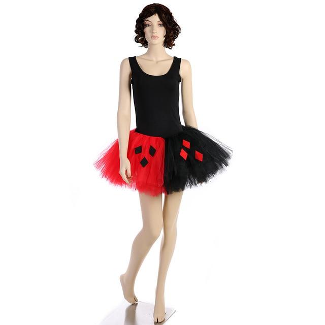 fab43b494 Lady Girl Joker Family Cosplay Tutu Skirt Fluffy Women Adult Mother and  Daughter Halloween Evening Party Tulle Skirt Pettiskirts