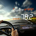 Cabeça carro Up Display Automático Carro OBDII HUD Head Up Display Projetor Projetor Sistema de Alarme Sistema De Alerta De Velocidade Levou-brisa
