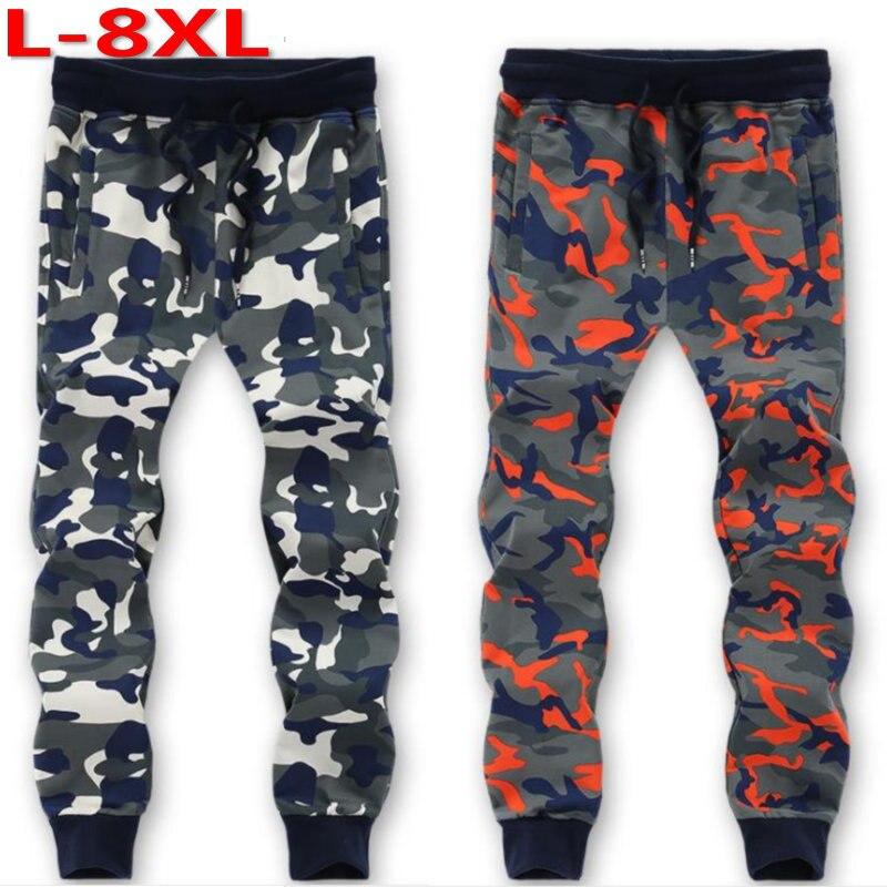 Free shipping plus size L-6XL 7xl 8xl 9xl Camouflage loose pants loose Elastic Waist cotton casual long trousers pants hiphop