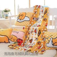 Candice guo stuffed doll plush toy gudetama egg kawaii sofa pillow cushion hand warmer blanket office rest sleeping kid gift 1pc
