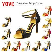 YOVE Design System w124 8 DIY Dance Shoe Women s Latin Salsa Dance Shoes