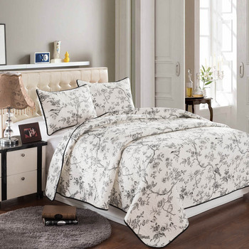 Luxury Large Cotton Comforter 3Pcs Set= Quilt + 2Pcs Pillow Case Summer Quilt Size King Queen Printing Bed Cover Sets Home Use