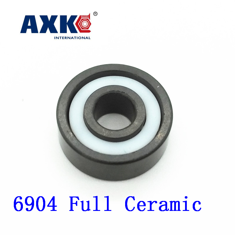 Axk 6904 Full Ceramic Bearing ( 1 Pc ) 20*37*9 Mm Si3n4 Material 6904 Ce All Silicon Nitride Ceramic 61904 Ball Bearings rosenberg 6904