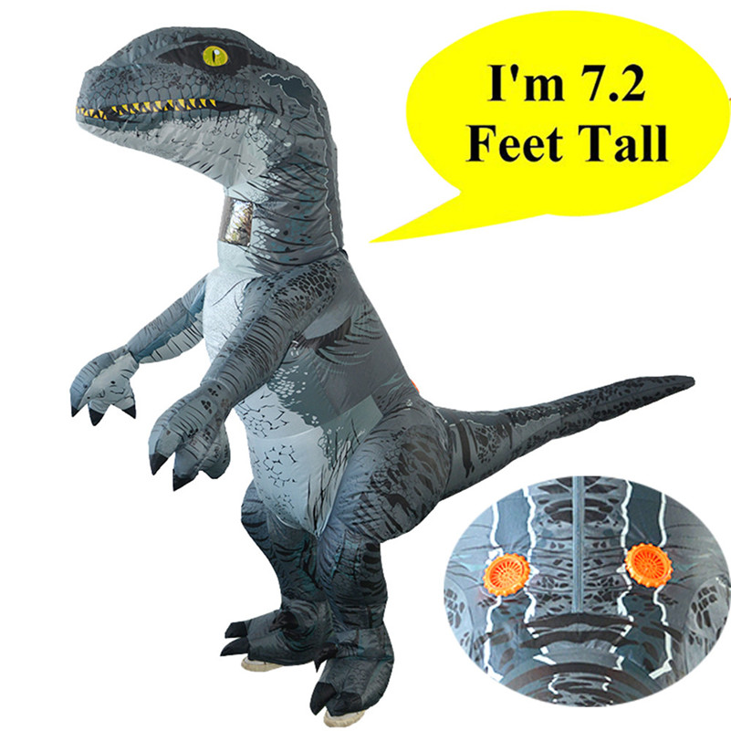 Adult Inflatable Dinosaur Costume Halloween Cosplay Blow up Outfit Velociraptor for Terror 2018 Halloween party decoration B2 cosplay star wars costume han solo halloween full set party halloween costume