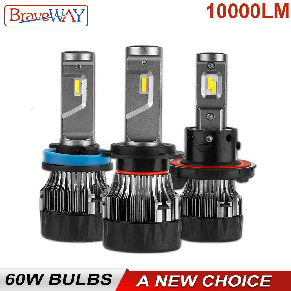 BraveWay 10000LM H7 LED Bulb for Car LED Lamp 12V 9005 9006 9012 HB3 HB4 H8 H11 LED CANBUS H4 Motorcycle Headlight Bulbs Auto