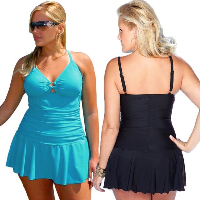f78da88fd10 new summer swimwear plus size women's swearwear suits large size swim wear  maternity swimsuits pregnagnt swimming dress 1583