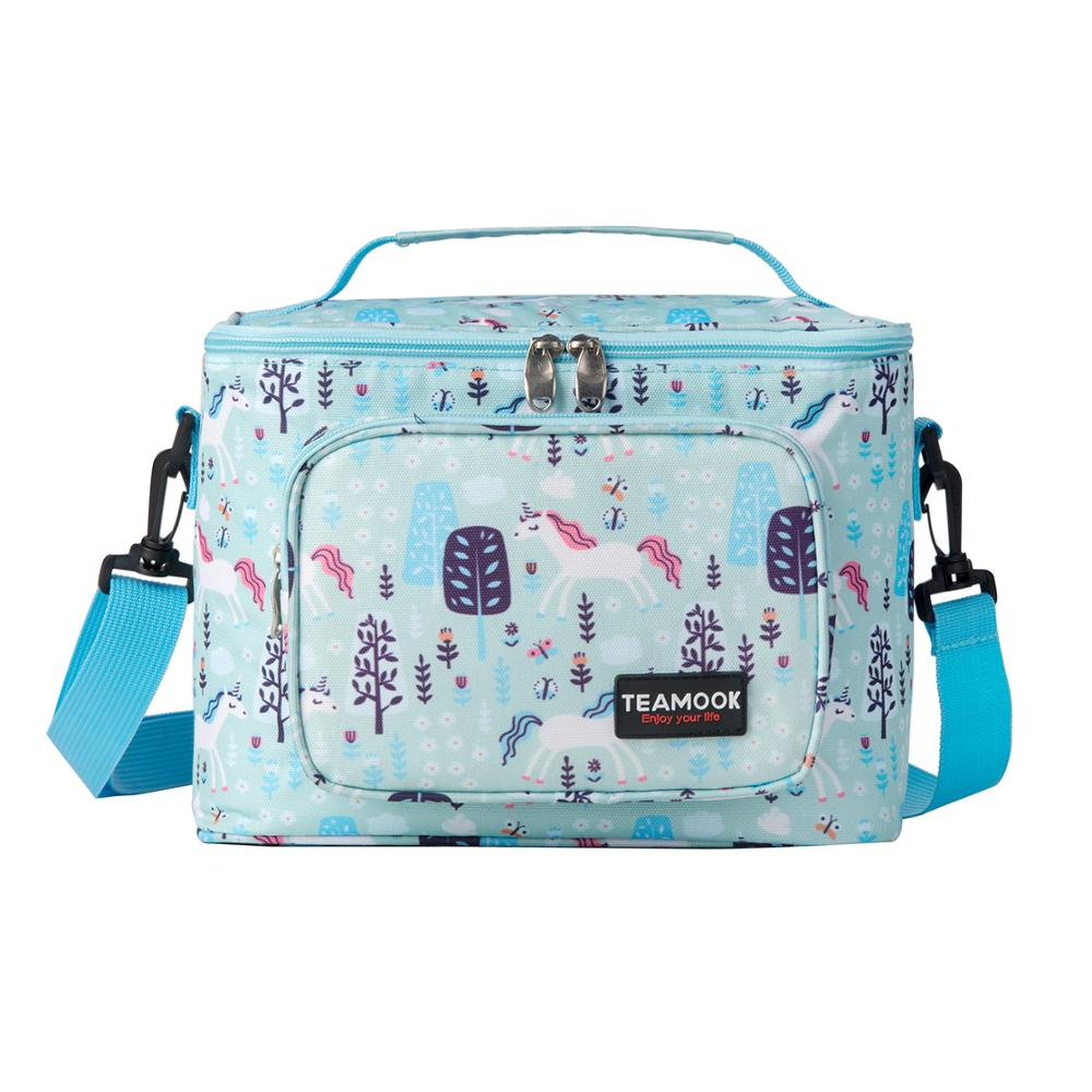 TEAMOOK Portable Thermal Lunch Bags For Women Kids Men Waterproof Food Picnic Cooler Box Insulated Tote Bag Storage Container