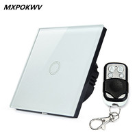 High Quality 1Gang 1 Touch Wall Light Switch Wireless Remote Control Glass Remote Wall Touch Swith