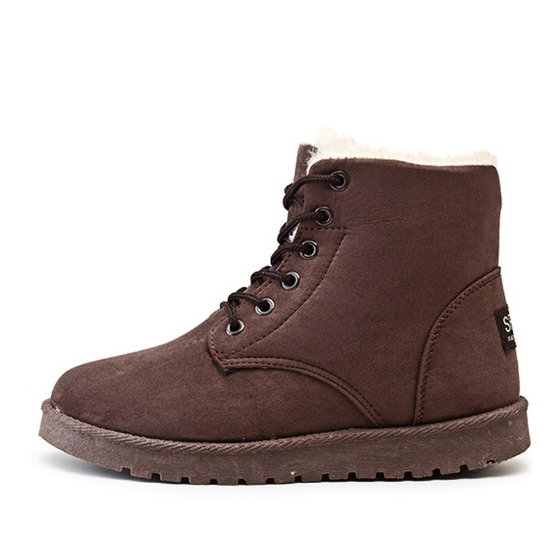 2016 Women Winter Boots Plus Velvet Snow Boot Female Comfortable Flat With Student Shoes B2627