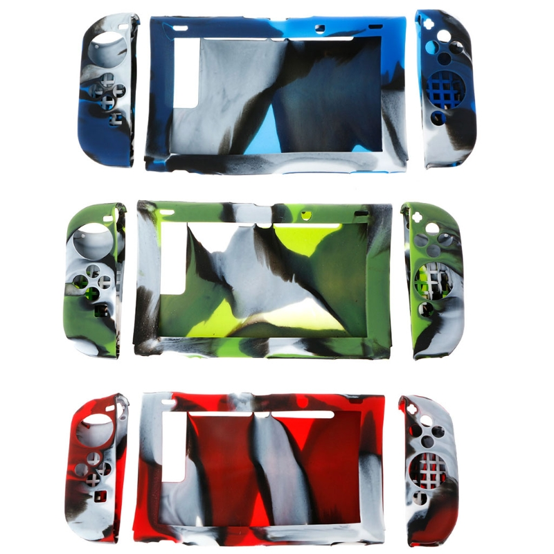 OOTDTY 1 Set Silicone Protector Case Cover For Nintendo Switch Host + Controller LR Z07 Drop ship