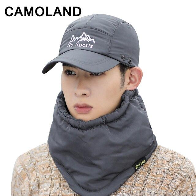 16a15f7d6b2 Neck Warmer Windproof Winter Hats for men women Balaclava Thicken Thermal  Fleece Scarf Face Mask Snow Caps Baseball cap Sports
