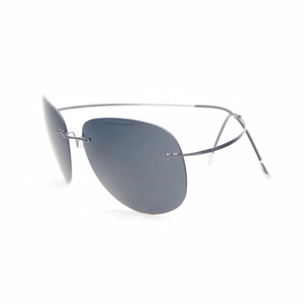 S1501 Eyekepper Rimless Titanium Frame Polarized Sunglasses