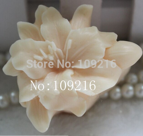 wholesale!!!1pcs Small Lily (zx0096) Silicone Handmade Soap Mold Crafts DIY Mould