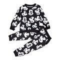 2016 Do Bebê de Inverno Meninos Terno Do Esporte Da Forma Roupa Dos Miúdos Mickey Minnie Mouse Camisola + Calças 2 PCS Conjunto de Roupas de Bebê Menina roupas