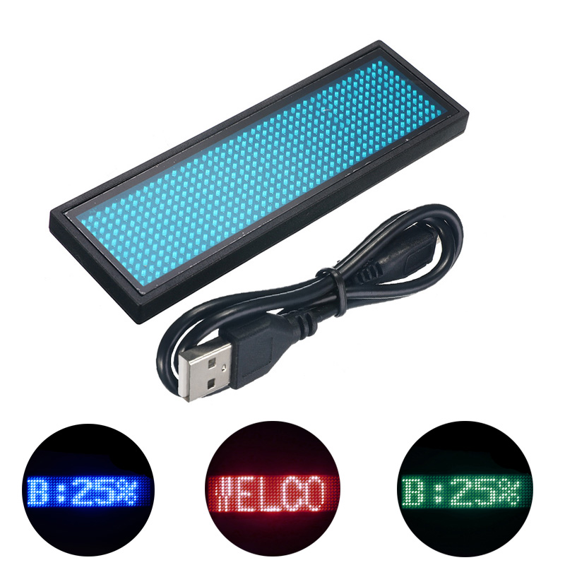 NEW Multi Color Scrolling Message Led Name Pin Badge 44x11 Dots Rechargeable Led Name Business Card Tag Text Display For Event