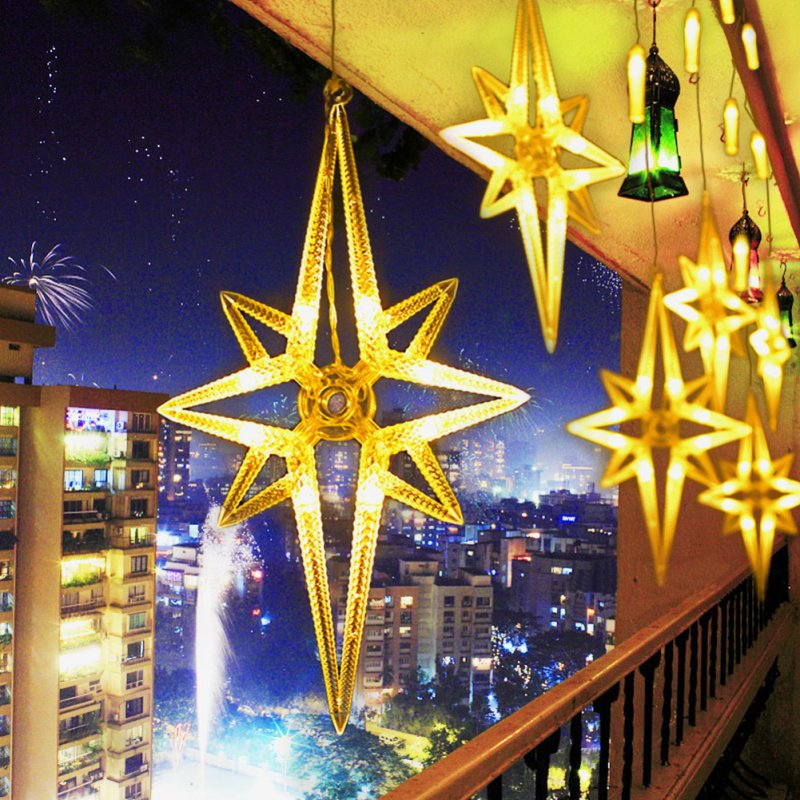 220V 138pcs LED fairy string lights Star Curtain Lights Waterproof outdoor christmas decorations for home wedding