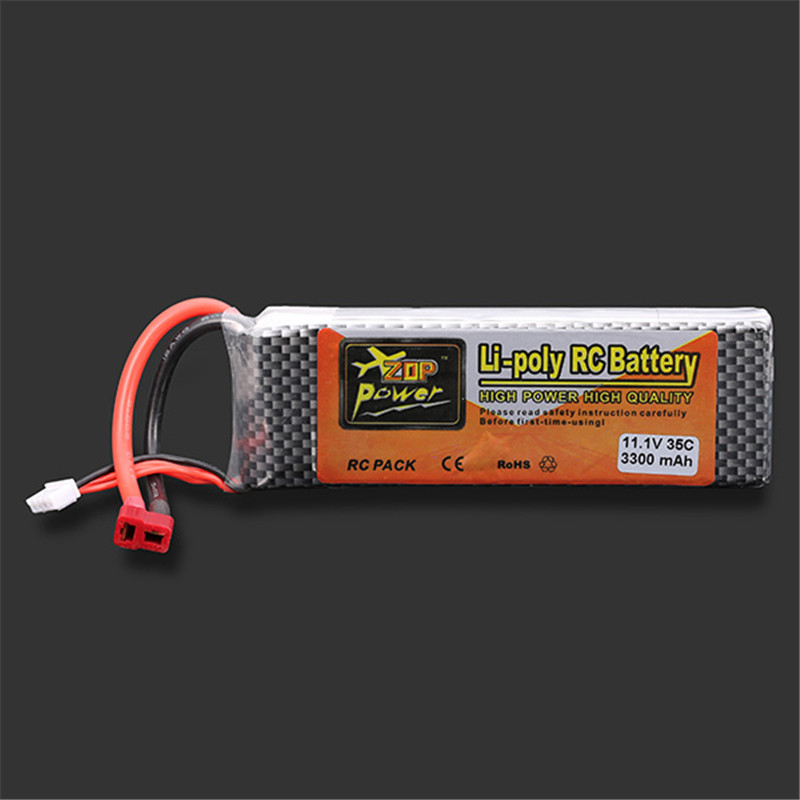 High Quality Rechargeable Lipo Battery ZOP POWER 11.1V 3300MAH 3S 35C Lipo Battery T plug high quality zop power 11 1v 1500mah 25c lipo battery t plug