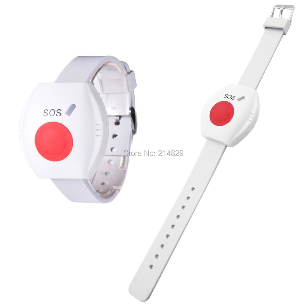White waterproof SOS remote anti Lost wrist panic button for the Senior and ladies outdoor activities|panic button|anti lost|sos panic button - title=