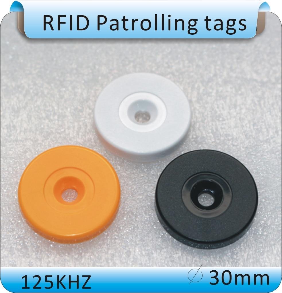 10pcs free shipping RFID patrol point /RFID tag 125KHz 30mm diameter proximity coin tags for Guard Tour Patrol System 10pcs sample 125khz rfid abs waterproof patrol button id patrol point