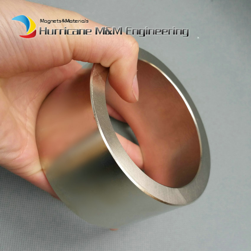 2 pcs NdFeB Magnet Ring OD 100x80x50 (+/-0.1)mm thick Strong Neodymium Permanent Magnets Tube Rare Earth Magnets Grade N42 ndfeb magnet block 40x25x10 mm super strong magnet neodymium permanent magnets rare earth magnets grade n42 nicuni plated