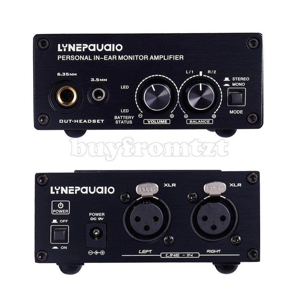 Personal In-Ear Monitor Amplifier In Ear Monitor Amp Balanced XLR Ports B982 XLR Balanced Power Indicator