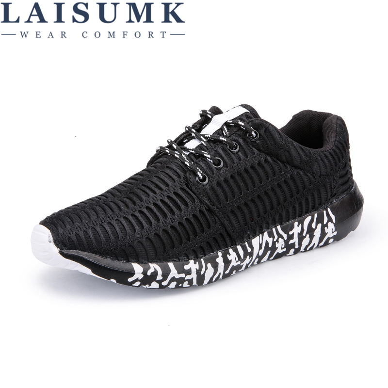 LAISUMK 39-47 Casual Shoes Men Big Size Sneakers Breathable Lace Up