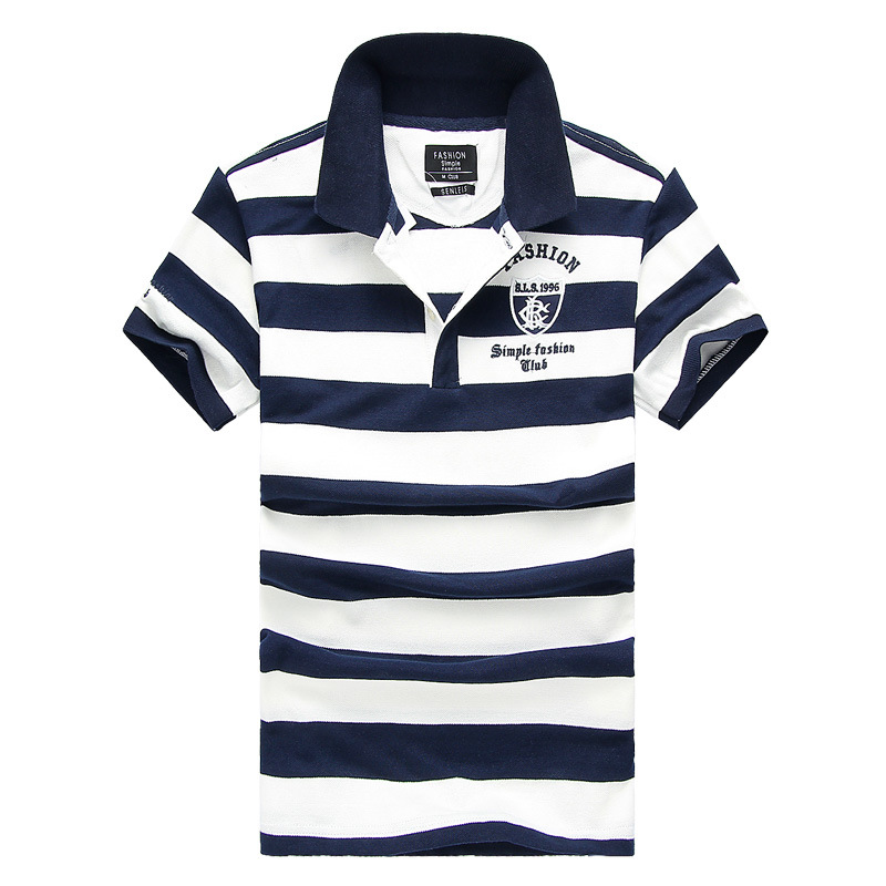 Hight Quality Men Classic Striped   Polo   Shirt Cotton Short Sleeve NEW Arrived 2016 summer Plus size M-XXXXL