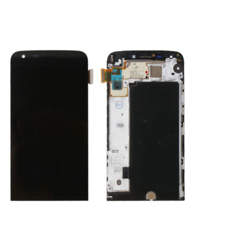 Black New LCD Display with Touch Screen Digitizer Assembly With Frame For LG G5 H850 Free Shipping new lcd touch screen digitizer with frame assembly for lg google nexus 5 d820 d821 free shipping