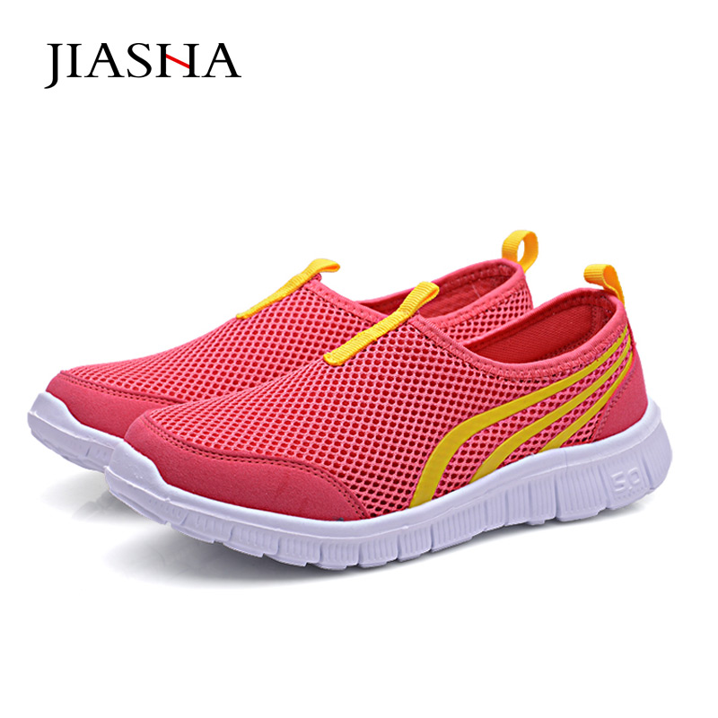 2018 Women Light Sneakers Summer Mesh Running Shoes Lady Trainers Walking Outdoor Sport Comfortable zapatillas deporte mujer