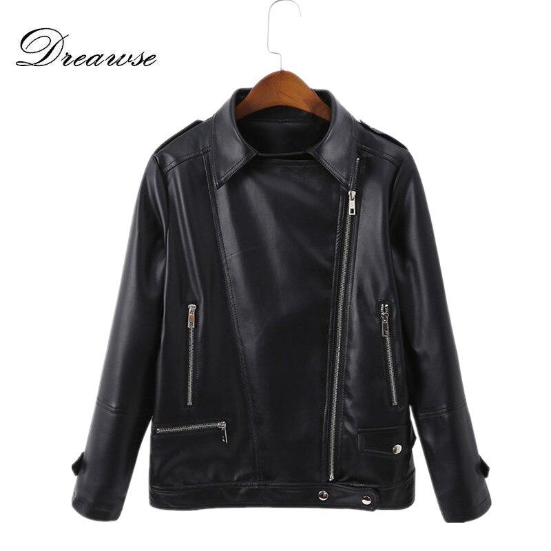 Dreawse Spring New PU Leather Jacket Plus size 5XL 200 Pounds Wear Was Thin Fashion Chaqueta