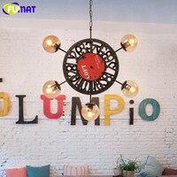 FUMAT Loft Wheel Pendant Lamp American Style Indoor Industrial Metal Lamp Antique Style Restaurant Lamp Bar Hotel Project Lampe