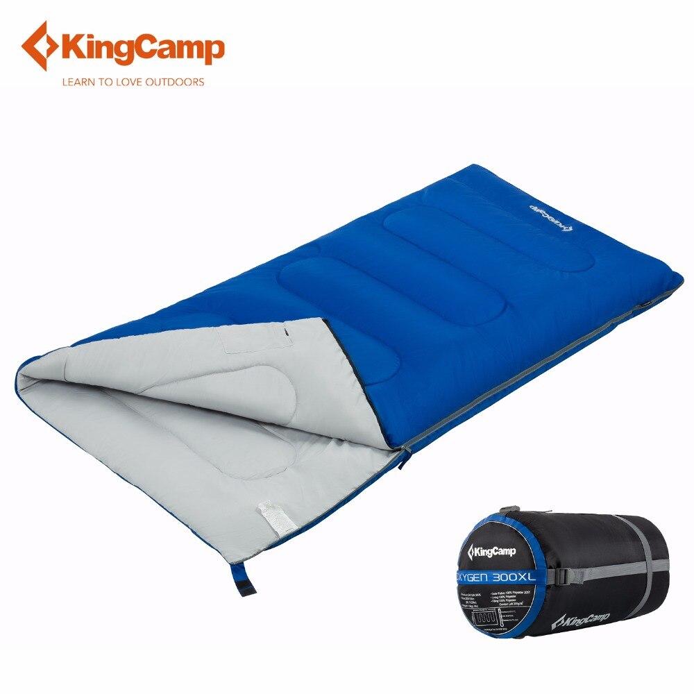 KingCamp 300*205*100cm Adult Cotton Sleeping Bag Envelope Type Lightweight Large Size Lazy Sleeping Bags 4 Season Outdoor Hiking