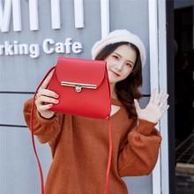 cute little bag shoulder leather fashion woman