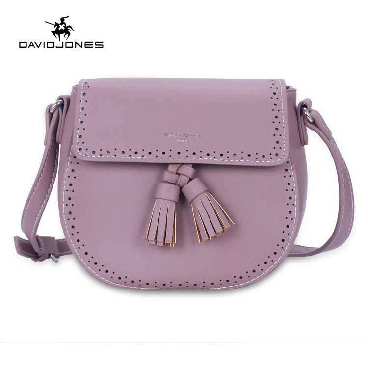 ddb52326dab5 US $24.79 38% OFF|DAVIDJONES Women Handbag Female Faux Leather Messenger  Bags Mini Lady Tassel Shoulder Bag Girl Brand Crossbody Bag drop  shipping-in ...