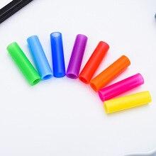 100 шт металлическая соломинка Силиконовый чехол Защита для полости рта для 6 мм Диаметр соломка из нержавеющей стали экологически безопасная Резина Клюв