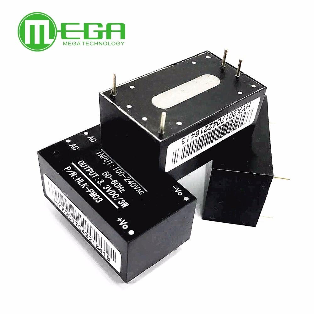 5pcs HLK-PM03 AC-DC 220V to 3.3V Step Down Buck Power Supply Module Intelligent Household Switch Converter Automation Kits