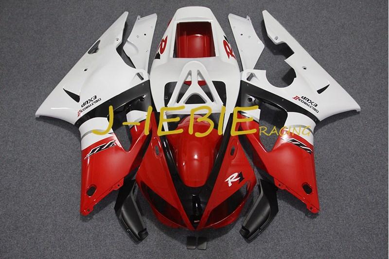 Red white black Injection Fairing Body Work Frame Kit for Yamaha YZF 1000 R1 1998 1999