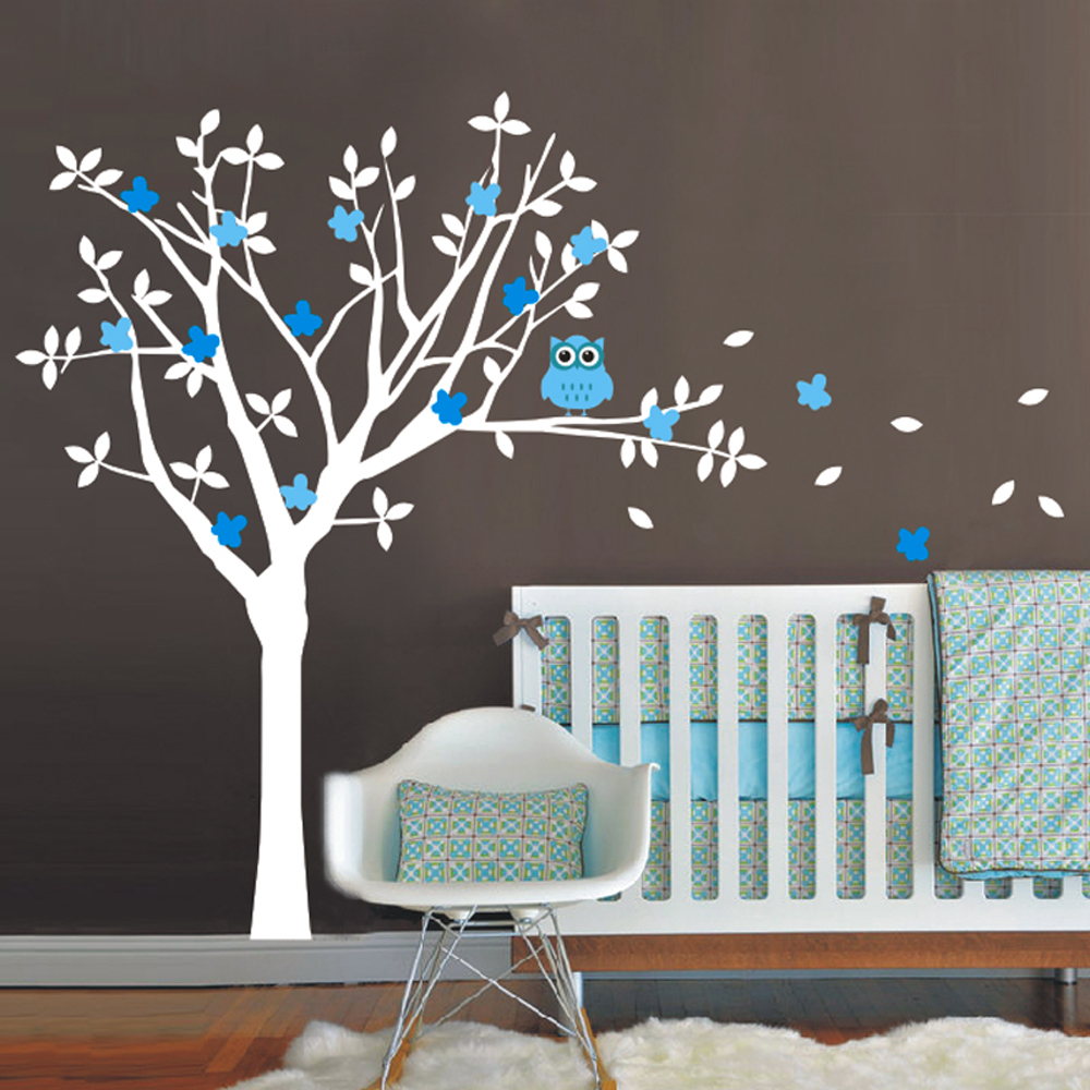 compare prices on nursery tree mural online shopping buy low baby nursery vinyl wall decals tree and owl wall sticker kids children nursery vinyls