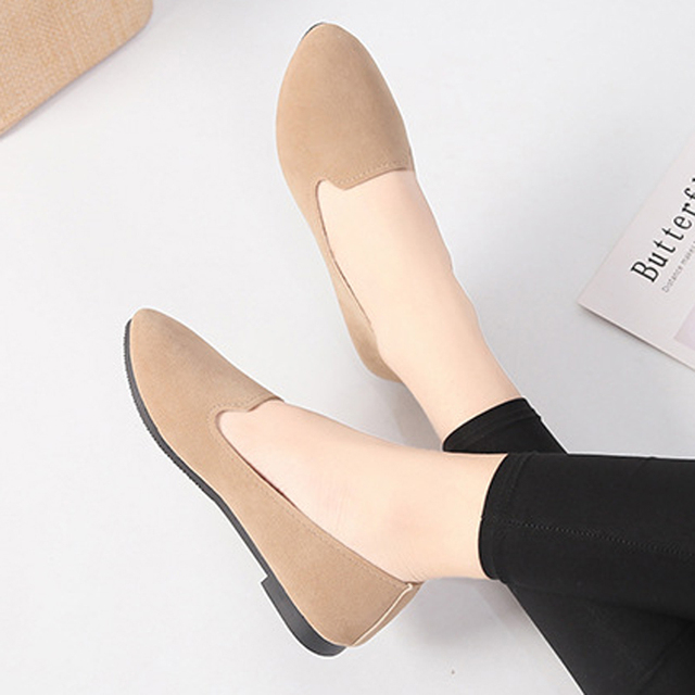 Candy Colors Women Ballet Flats Slip On Ladies Loafers Lovely Solid Suede Shoes Woman Mujer Casual Daily Footwear XWD7286
