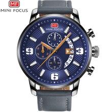 Relogio Masculino Chronograph Brand Luxury Army Military Sports Watches Men Quartz Casual Leather Wrist Watch MINI FOCUS Clock