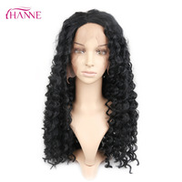 HANNE Synthetic Lace Front Wig With 3 Combs Inside Black Color Deep Curl Heat Resistant Hair Full Lace Wigs For Black Women