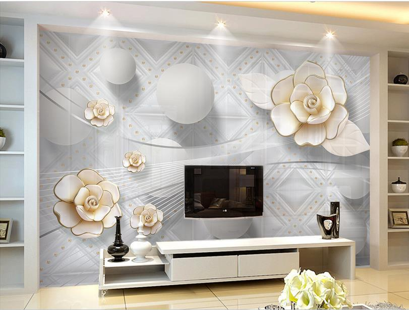 personnalis photo papier peint 3d fleur peintures murales. Black Bedroom Furniture Sets. Home Design Ideas