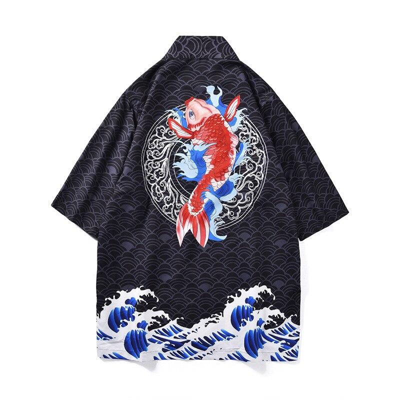 Japanese Loose Coat Men Women Cardigan Kimono Tops Summer Printed Loose Blouse Jacket Traditional Sunscreen Clothes Yukata 2019