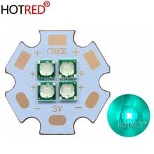 10 Вт-12 Вт 3V6V12V Epi светодиодный s 3535 голубой цвет 495-500nm 4 чипа 4 светодиодный s многочиповый высокомощный светодиодный Диод с 20 мм медной печатной платой