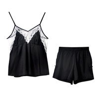 Summer Pajamas Suit Women Camisole Pajamas Female Sexy Sleepwear Shorts Satins Nightwear Fashion Lingerie Chinese Market
