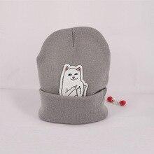 Хеджирования шляпу шапочка вязать шерсть хип-хоп кошка новая весна осень зима