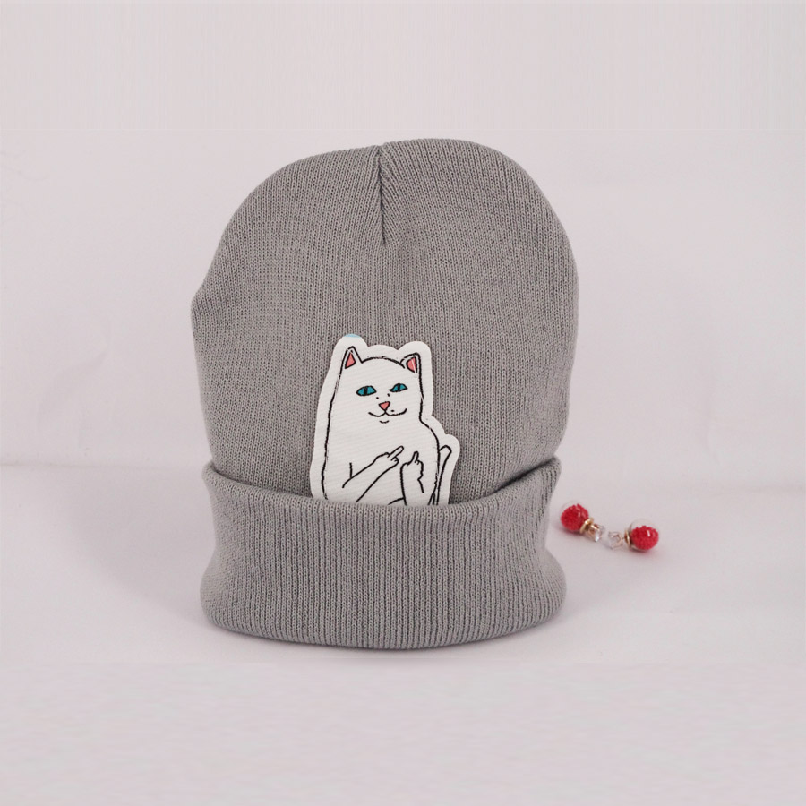 6 color NEW autumn font b winter b font spring beanie new style cat wool knit
