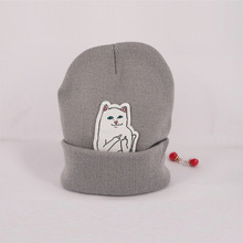 6 color NEW autumn winter spring beanie new style cat wool knit hat hip hop hedging men women