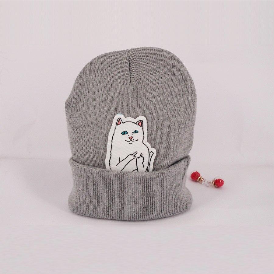 6 cor NEW outono inverno primavera gorro novo estilo gato chapéu de tricô de lã das mulheres dos homens de hip hop hedging